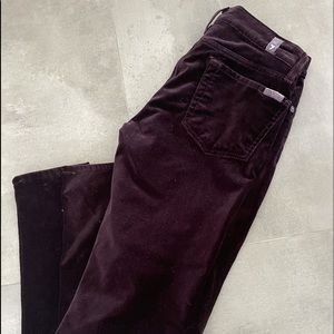 Seven for All Mankind Burgandy Jeans